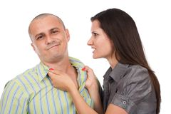 Couple arguing Stock Images