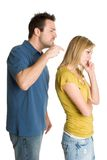 Couple Arguing. Angry fighting arguing isolated couple royalty free stock images