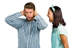 Couple arguing with each other Royalty Free Stock Photo