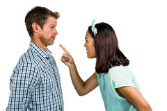 Couple arguing with each other Royalty Free Stock Photos