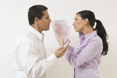 Couple Arguing About Expenses Stock Photography