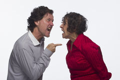 Couple arguing, horizontal Royalty Free Stock Photography