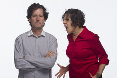 Couple arguing, horizontal Royalty Free Stock Images