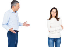 Couple arguing while standing Stock Photos