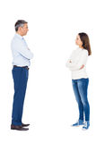 Couple arguing while standing Stock Photo