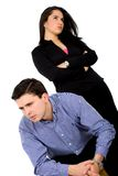 Couple in an argument Stock Photos
