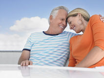 Couple With Arm Around On Yacht Royalty Free Stock Photo