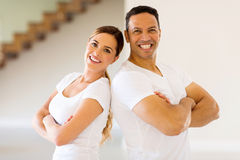 Couple with arms crossed Royalty Free Stock Photo