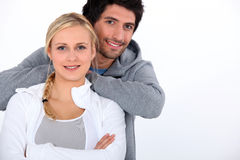 Couple with arms crossed Stock Image