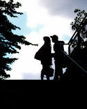 A couple as a silhouette Royalty Free Stock Photography