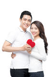 Couple of asian lovers at the beginning of love story having fun together Stock Images