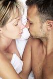 Couple Asleep Stock Images