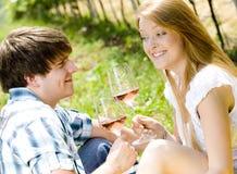 Couple At A Picnic Stock Image