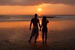 Couple At Sunet Stock Photos