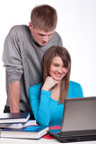 Couple of attractive students Stock Photos