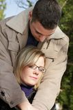 Couple in autumn Stock Photography