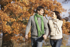 Couple in autumn Royalty Free Stock Photo