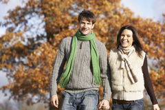 Couple in autumn Stock Image