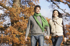Couple in autumn Royalty Free Stock Image