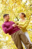 Couple in autumn Stock Images