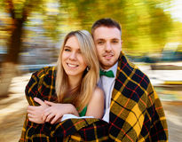 Couple autumn portrait Royalty Free Stock Photo