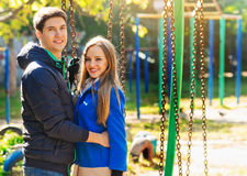 Couple in the autumn Stock Photos