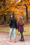 Couple on autumn walk Royalty Free Stock Photography