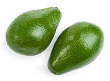 Couple avocado. Isolated on a white background Stock Images