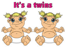 Couple of babes girls twins Royalty Free Stock Images