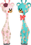 Couple Baby Giraffes Royalty Free Stock Photography