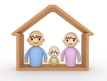 Couple Baby Home. Living with children Stock Image