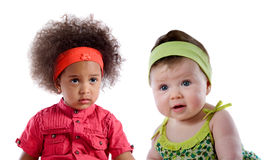 Couple of baby isolated Stock Photography