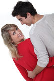 Couple from the back Stock Photography