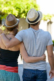 Couple back view, on vacation Royalty Free Stock Image