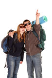 Couple backpacking Stock Photos