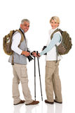 Couple with backpacks Stock Photos
