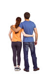 Couple with backs to camera Royalty Free Stock Photography