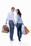 Couple with bags Royalty Free Stock Photo