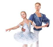 Couple of ballet dancers posing Stock Images