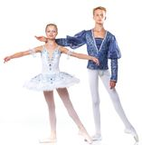 Couple of ballet dancers posing Stock Photography