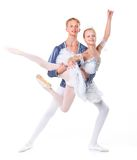 Couple of ballet dancers posing Stock Photo