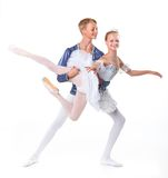 Couple of ballet dancers posing Royalty Free Stock Photography
