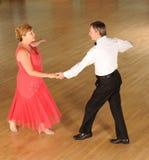 Couple ballroom dancing stock image