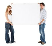 Couple with banner Stock Photos