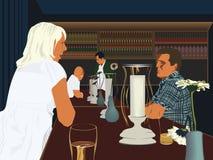 Couple in bar Stock Photos
