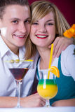 Couple at bar 2 Royalty Free Stock Photography
