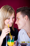Couple at bar 2 Royalty Free Stock Photo