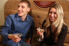 Couple in bar Stock Images