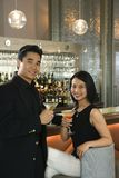 Couple at bar Royalty Free Stock Images