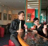 Couple at bar royalty free stock image